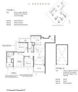 Parc Clematis 3 bedroom floor plan