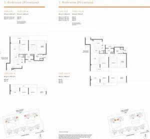 Parc Clematis Floor Plan 3 bedroom premium